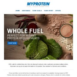 [MyProtein] Whole Fuel... Engineered with the Vegan in mind...