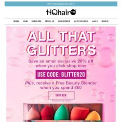 [HQhair] Last chance: 20% off + Free Beauty Blender
