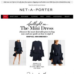 [NET-A-PORTER] Master the new way to wear the mini dress, plus sale up to 70% off