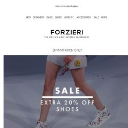[Forzieri] Your Next Shoes are now 70% Off