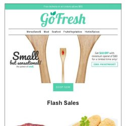 [GoFresh] GoFresh New Products + FLASH SALES UP THIS WEEK!