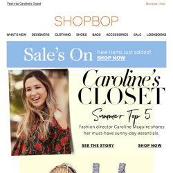 [Shopbop] Our fashion director's top 5 pieces