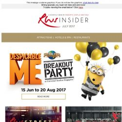 [Resorts World Sentosa] Join our Despicable Me Breakout Party, Street Eats and more!