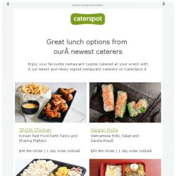 [CaterSpot] Check out the new lunch options on CaterSpot