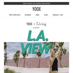 [Yoox] L.A. View: the new shoot from Living Corriere della Sera