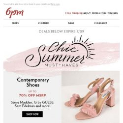 [6pm] Up to 70% off Chic Summer Must-Haves!