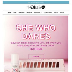 [HQhair] She Who Dares | 20% off