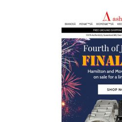 [Ashford] Your Very Last Chance to Save on July 4th Sale