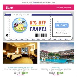 [Fave] Have FLIGHT, will fly: Travel deals at extra 8% OFF here!
