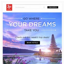 [Kaligo] , go where your dreams take you and earn up to 13,000 Miles!