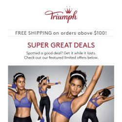 [Triumph] LOVE THESE STEALS! Triaction: $10 OFF!
