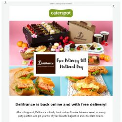 [CaterSpot] Delifrance now available on CaterSpot - with free delivery for one month!