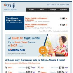 [Zuji] Korean Air SALE: Seoul, Tokyo & more on sale!