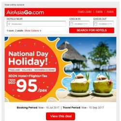 [AirAsiaGo] 🌟 National Day Holiday! | Book Now! 🌟