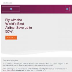 [Qatar] Corrected Los Angeles fare + Save up to 50% with the World's Best Airline.