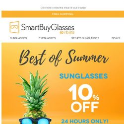 [SmartBuyGlasses] 🍍10% Off Sunglasses | Celebrate the Summer with our top sellers