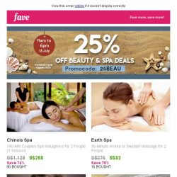 [Fave] Thursday's special: Beauty comes with a (low) price in this sale!