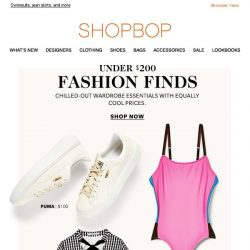 [Shopbop] Fashion finds under $200: Cool pieces at easy-to-love prices