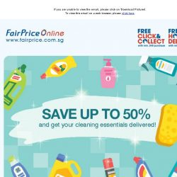 [Fairprice] Save up to 50% on our Home Care items!