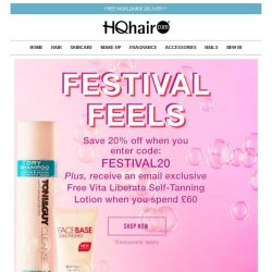 [HQhair] Festival Feels | Save 20% plus a FREE gift