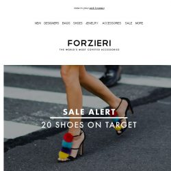 [Forzieri] Sale Alert | Top 20 Shoes not to be missed
