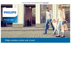 [PHILIPS] Come down to the members private sale to enjoy up to 50%* off on selected Philips products!