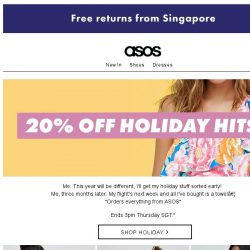 [ASOS] 20% off your holiday (clothes, not flights... sorry)