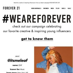 [FOREVER 21] 6 people you should know RN