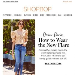 [Shopbop] The new flare jeans (and why you need them)