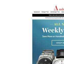 [Ashford] Time to Save More on Watches