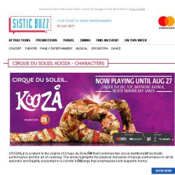 [SISTIC] Explore an electrifying and exotic visual world full of surprises, thrills and chills at Cirque du Soleil KOOZA!