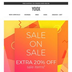 [Yoox] Sale on Sale: EXTRA 20% OFF a special selection