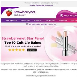 [StrawberryNet] 💋 Discover Our Top 10 Cult Lip Balms