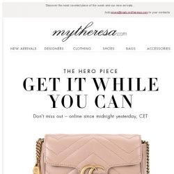 [mytheresa] Our ultimate hero piece: Gucci's GG Marmont shoulder bag
