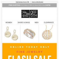 [Saks OFF 5th] TODAY ONLY: EXTRA 40% OFF Bavna, Effy & MORE