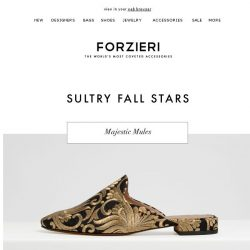 [Forzieri] Sultry Fall Stars: 9 shoes you have to have this season