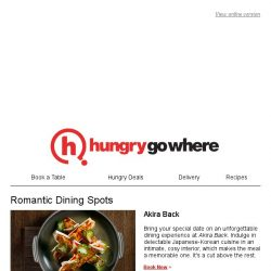 [HungryGoWhere] Romantic dining spots for a date night with your partner