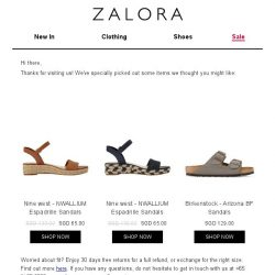 [Zalora] Are you still shopping for Sandals?