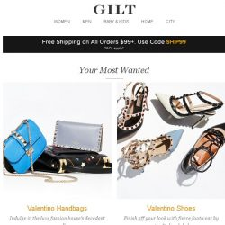 [Gilt] Valentino Handbags, Valentino Shoes, Back to Basics: Denim and More Start Today at Noon ET