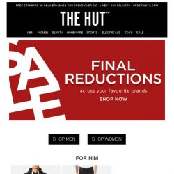 [The Hut] Hurry, Final Reductions are now on!