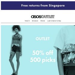 [ASOS] 50% off these 500 things