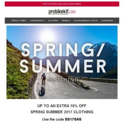 [probikekit] Last Chance Discounts - Up to an EXTRA 30% off