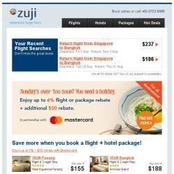 [Zuji] 4D3N packages to Tokyo and more fr $605!