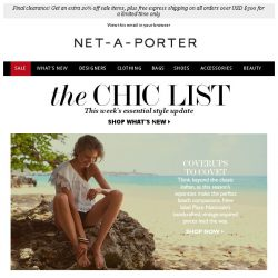 [NET-A-PORTER] The new coverup to own, summer black and more