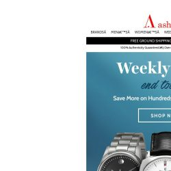 [Ashford] Weekly Deals End Today