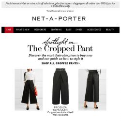[NET-A-PORTER] The essential cropped pant and how to wear it