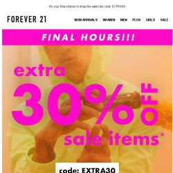 [FOREVER 21] EXTRA 30% OFF IS ENDINGGGGG!
