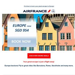 [AIRFRANCE] Your Great Escape to Europe!