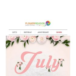 [Floweradvisor] Make the Special out of July. And make it out of Her day!