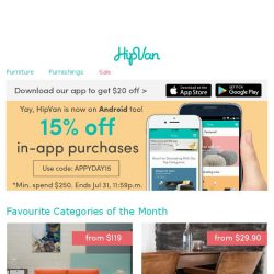 [HipVan] ✨ Exclusive sale only on HipVan App (now on Android too)!